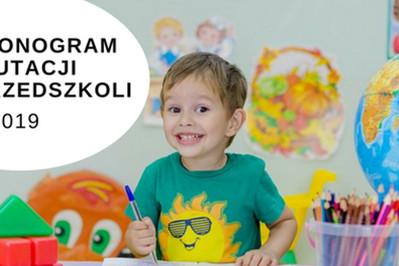 Rekrutacja do przedszkola 2018/2019 - HARMONOGRAM I ZASADY