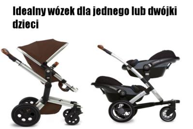 Idealny wózek dla jednego lub dwójki dzieci