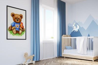 Bajkowe obrazy w dziecięcych wnętrzach