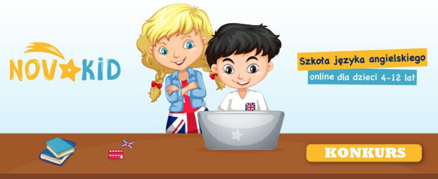 KONKURS Wygraj BEZPŁATNE lekcje języka angielskiego dla dzieci z Novakid: ONLINE!