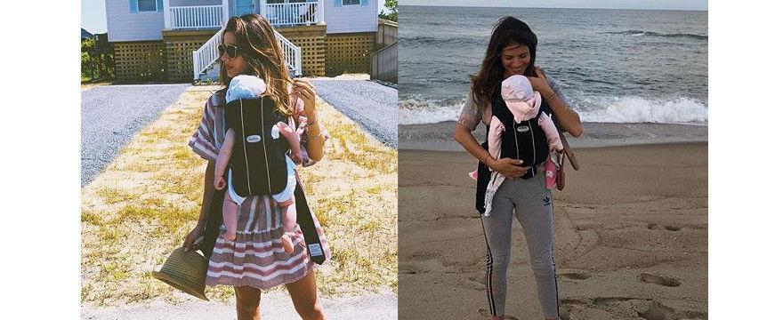 Weronika Rosati źle nosi córeczkę? Komentarze! Nosidełko czy wisiadło? Przypominamy w czym lepiej nosić dziecko