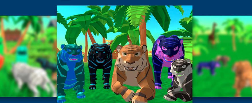 Wciel się w drapieżnego tygrysa i przemierzaj dżunglę w Tiger Simulator 3D