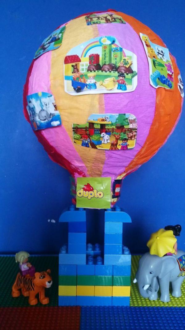 Lego balon :) stworzony od podstaw samodzielnie z masy papierowej